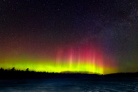 Spring Equinox Aurora, at a Wisconsin lake