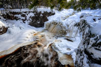 Upper Falls, close-up, Jan. '20