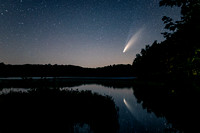 Comet Neowise with reflection, at Audie Lake, WI 2