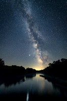 Milky Way and Jupiter, Chippewa River, WI