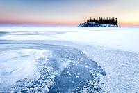 Lake Superior winter pastels