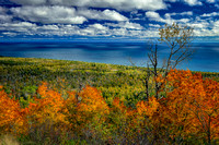 View from Oberg Mtn towards Lake Superior