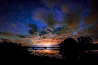Night sky at Chippewa Flowage