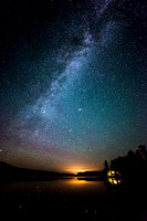 Milky Way with cabin