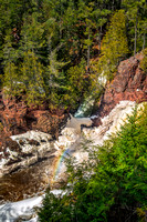 Brown Stone Falls with rainbow