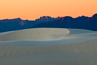 Dunes w. San Andres Mts., sunrise