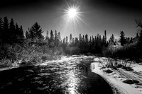 Namekagon River, in black & white