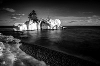 Hollow Rock in black & white 2